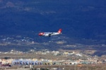 Edelweis plane is landing on Tenerife Sur Airport