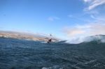 Wave windsurfing at El Cabezo in El Medano Tenerife 24-10-2020