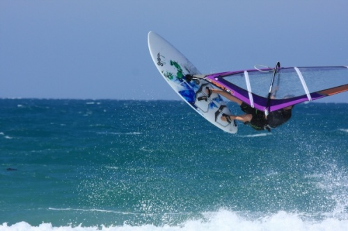 Windsurfing wave jumps