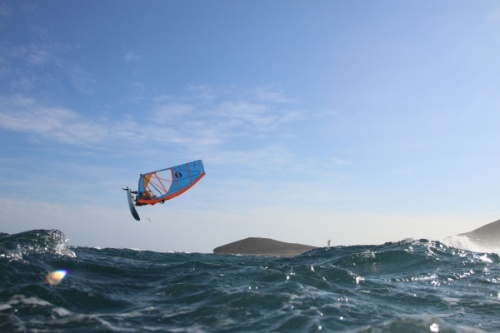 Windsurfing with TWS Tenerife Windsurfing Solution at Playa Sur in El Medano 10-12-2014